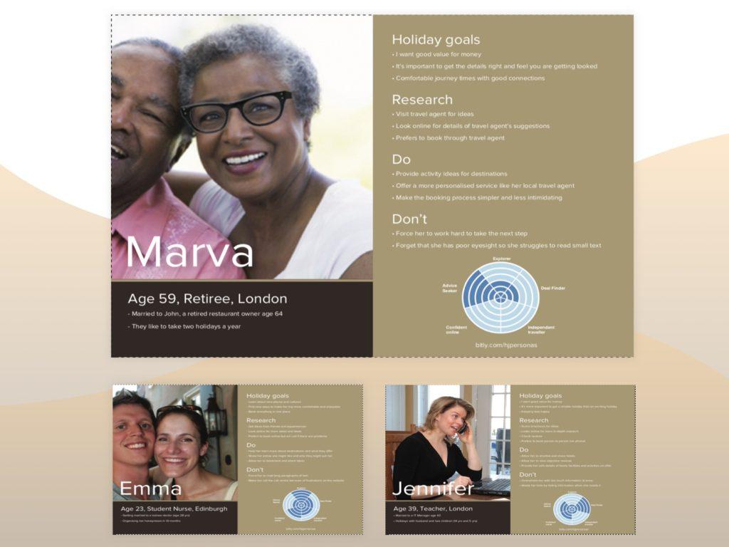 Screenshot of three customer profile documents