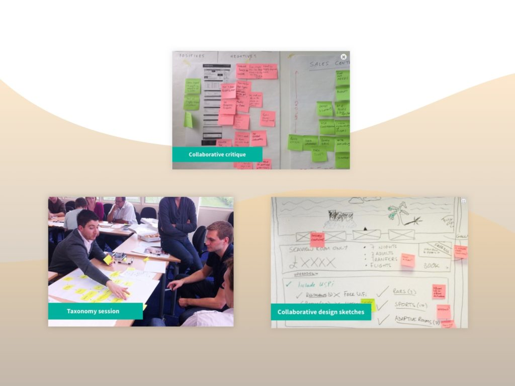 Screenshots of UX work